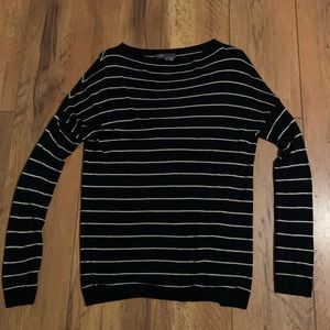 Vince Black Striped Lightweight Sweater Medium